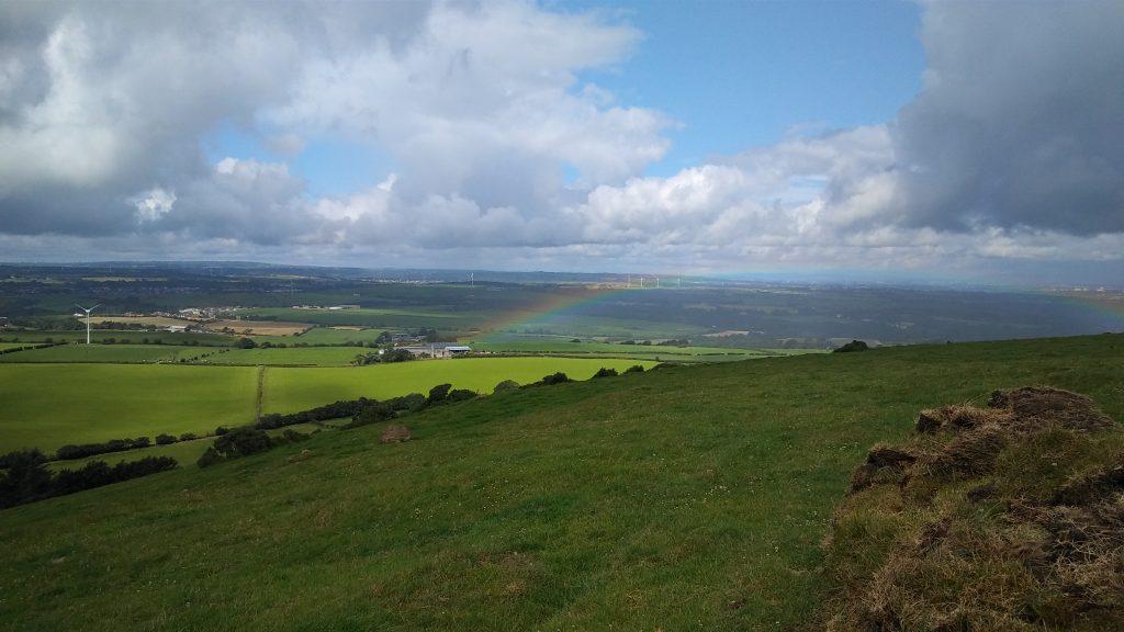 Scottish Landscape with a Rainbow